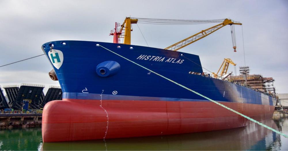 Navă de ultima generație, lansată de Șantierul Naval Constanța