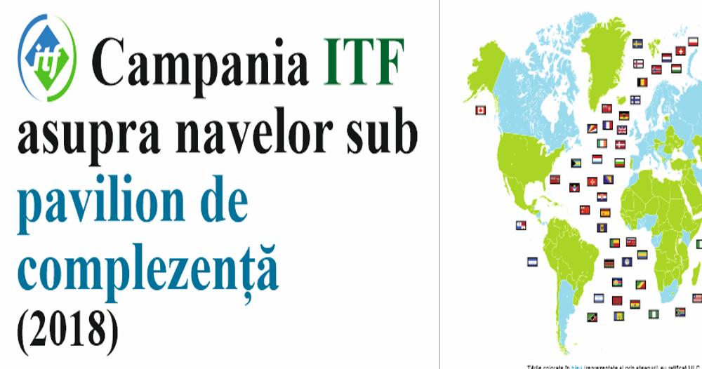 Campania ITF asupra navelor sub pavilion de complezență 2018