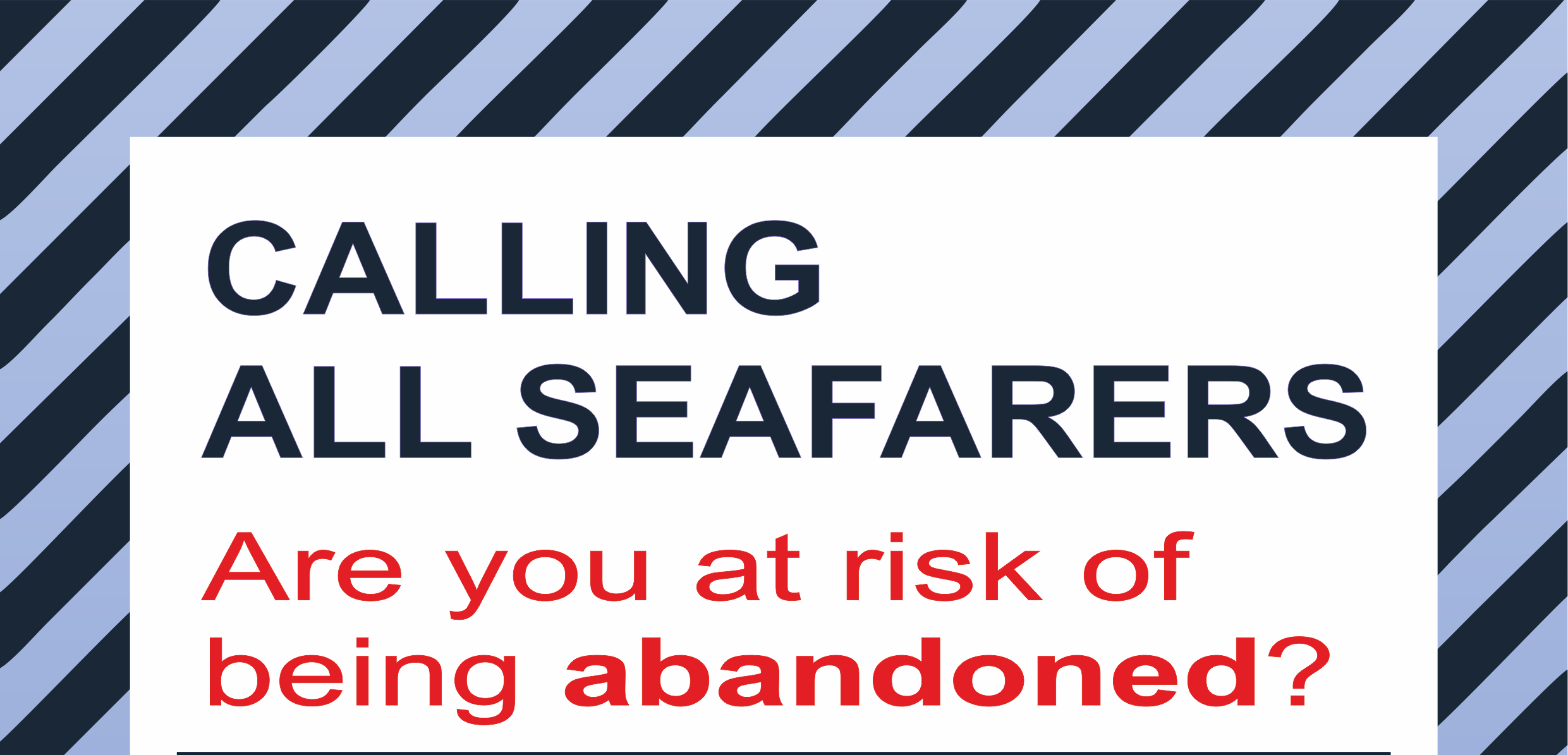 Poster: Are you at risk of being abandoned?