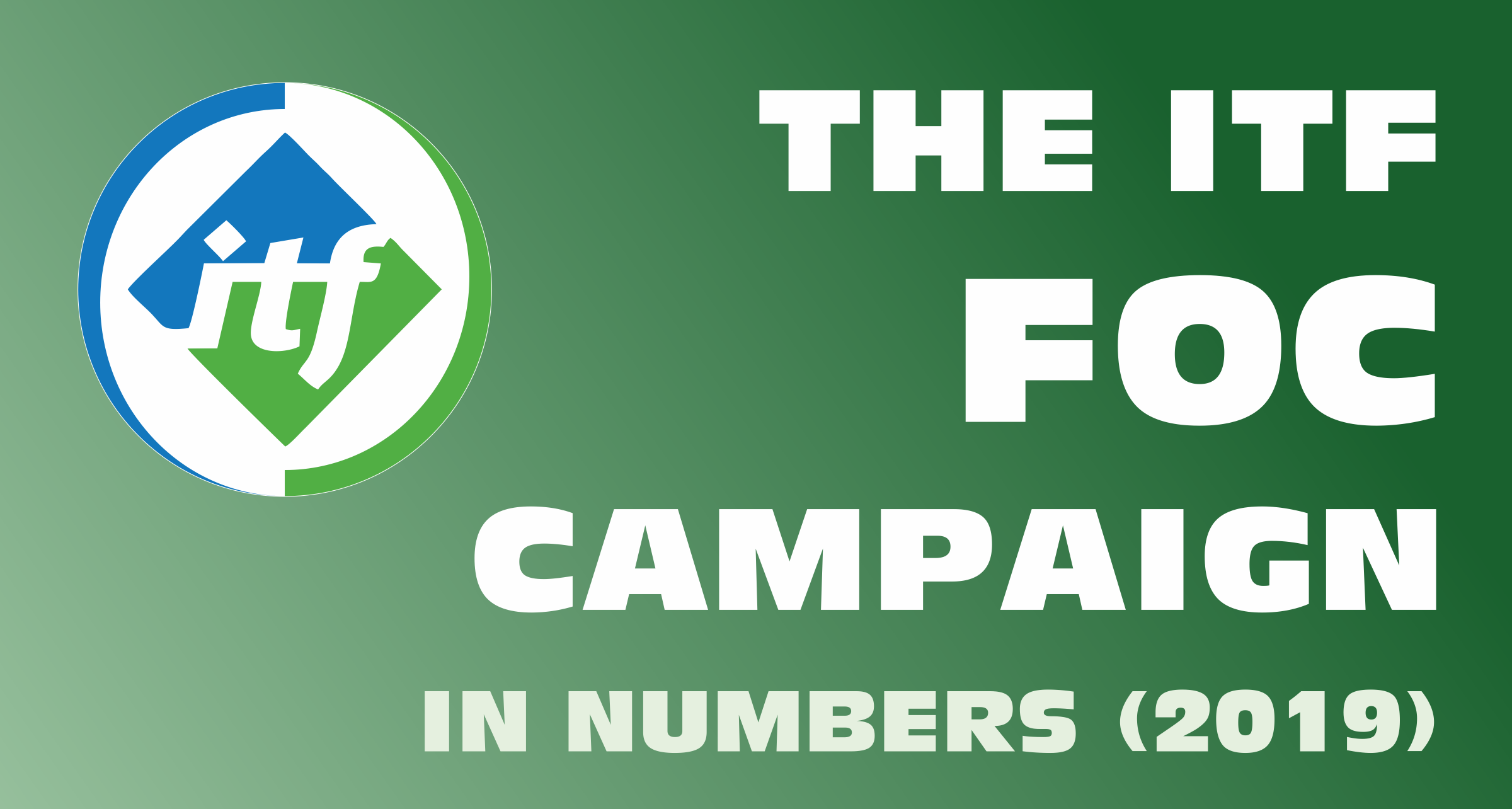 The ITF FOC Campaign in numbers (2019)
